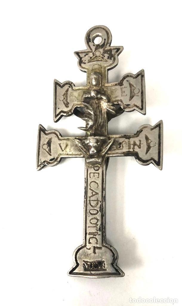 ANTIGUO CRUCIFIJO PECADO ORIGINAL. RARO. SIGLO XVIII. DOBLE IMAGEN (Antigüedades - Religiosas - Crucifijos Antiguos)