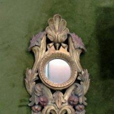 Antigüedades: ESPEJO DECORATIVO TORCHERO AÑOS 70. Lote 260674890