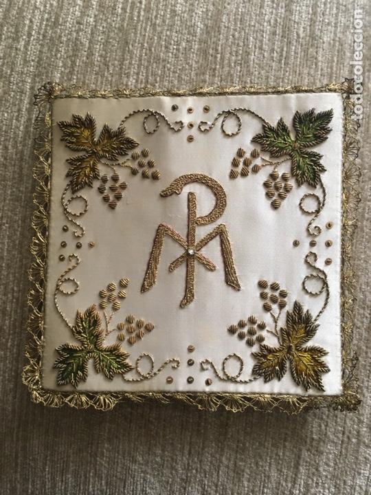 Antigüedades: Caja y bordados religiosos antiguos - Foto 6 - 260688300