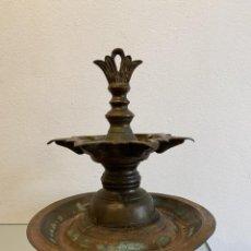 Antigüedades: LAMPARA JUDÍA DE ACEITE PARA EL SABATH , SIGLO XVI. Lote 260716710