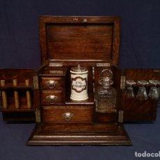Antigüedades: CAJA LICORERA/TABAQUERA. Lote 260766320
