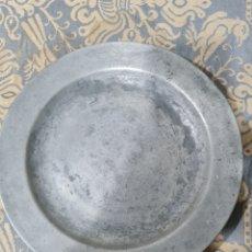 Antigüedades: PLATO DE PELTRE ALEMÁN DEL SIGLO XVIII. Lote 260768540