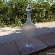 Antigüedades: ANTIGUA BOTELLA LICORERA TALLADA, SANTA LUCÍA, CARTAGENA, MURCIA. Lote 260785685
