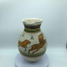 Antiquités: JARRA DE CERÁMICA DE TALAVERA/PUENTE DEL ARZOBISPO XVIII-XIX. Lote 260791745