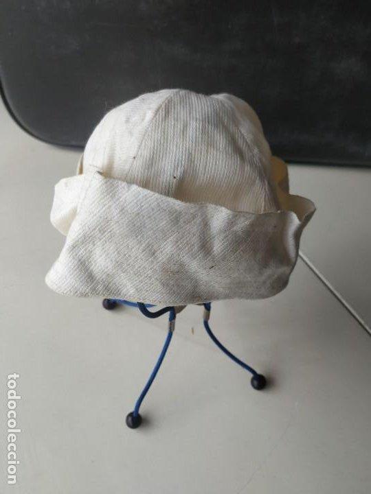 Antigüedades: Antiguo sombrero gorro gorrito niño tipo marinero playa. Principio s. XX - Foto 3 - 260831395