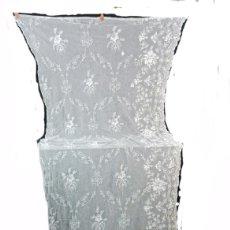 Oggetti Antichi: T9 - GRAN CORTINA PANEL EN TUL BORDADO A CADENETA. CA 1920. Lote 260872355