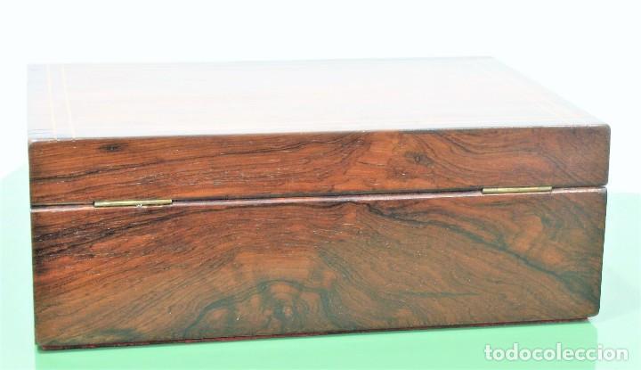 Antigüedades: Caja antigua Napoleón III de madera con marquetería. - Foto 3 - 261108925