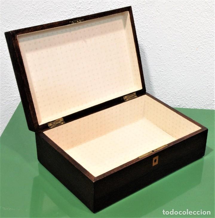 Antigüedades: Caja antigua Napoleón III de madera con marquetería. - Foto 7 - 261108925