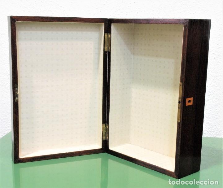 Antigüedades: Caja antigua Napoleón III de madera con marquetería. - Foto 8 - 261108925