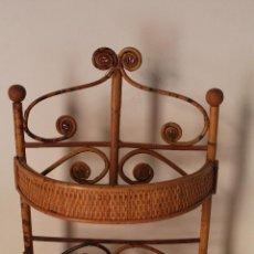 Antigüedades: ESTANTE DE PARED, REPISA DE MIMBRE. Lote 261154225