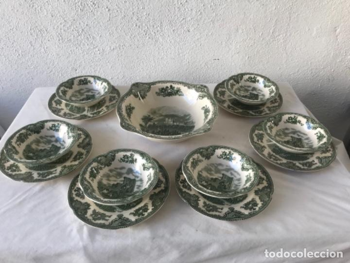 ENSALADERA Y 6 BOLS Y SUS PLATOS PORCELANA JOHNSON BROS ENGLAND SERIE CASTLES. (Antigüedades - Porcelanas y Cerámicas - Inglesa, Bristol y Otros)