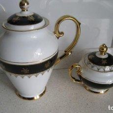Antigüedades: ANTIGUA Y BONITA CAFETERA Y AZUCARERO DE LIMOGES BUEN ESTADO. Lote 261177035