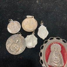 Antigüedades: LOTE DE MEDALLAS ANTIGUAS, ALGUNA DE PLATA. Lote 261191590