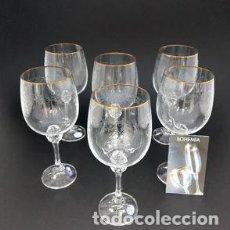 Antiquités: LOTE ESPECIAL YANIRA 6 AGUA-6 VINO TINTO- 12 VINO BLANCO- 6 FLAUTAS-RESERVADO. Lote 261193270