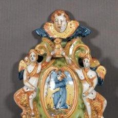 Antigüedades: BENDITERA ITALIANA EN CERÁMICA SIGLO XVII. Lote 261271745