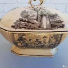 Antigüedades: SOPERA LOZA CERAMICA CARTAGENA XIX. Lote 261272465