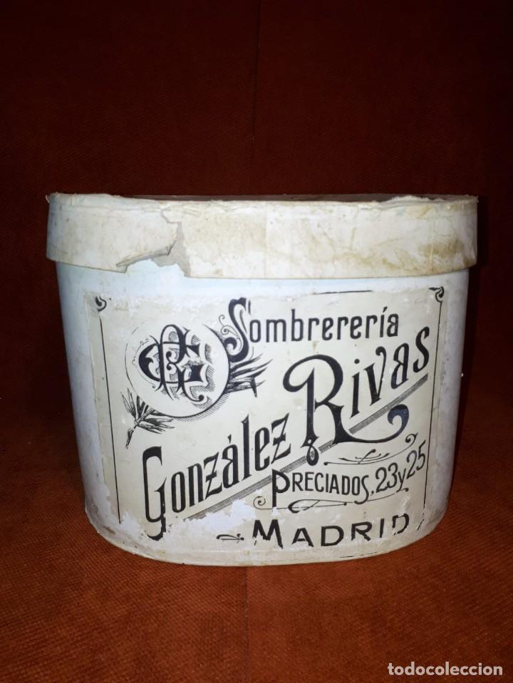 Antigüedades: MAGNÍFICO SOMBRERO DE COPA O CHISTERA DE LA SOMBRERERIA GONZALEZ RIVAS SIGLO XIX-XX - Foto 10 - 261272675