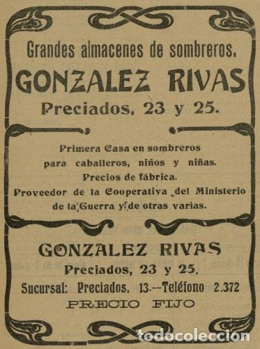 Antigüedades: MAGNÍFICO SOMBRERO DE COPA O CHISTERA DE LA SOMBRERERIA GONZALEZ RIVAS SIGLO XIX-XX - Foto 12 - 261272675