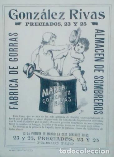 Antigüedades: MAGNÍFICO SOMBRERO DE COPA O CHISTERA DE LA SOMBRERERIA GONZALEZ RIVAS SIGLO XIX-XX - Foto 13 - 261272675