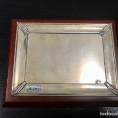 Antigüedades: PLACA DE GRABAR PLATA DE LEY 18X12. Lote 261290900