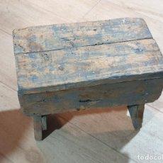 Antigüedades: TABURETE SILLA ANTIGUA. Lote 261321910