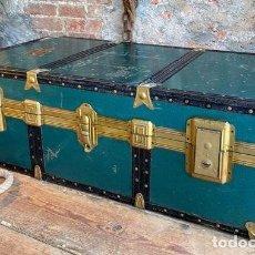 Antigüedades: BAÚL. GRAN BAÚL DE VIAJE. ITALIANO. EMBLEMÁTICO MUEBLE.. Lote 261331235