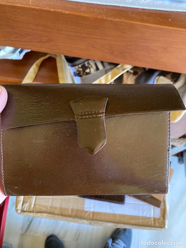Antigüedades: Lote de carteras de hombre en piel - Foto 8 - 261332155