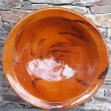Antigüedades: ALFARERIA CATALANA PLATO ENSALADERA BLANES S XIX XX. Lote 261337590