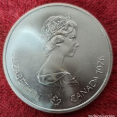 Antigüedades: MONEDA DE PLATA 925.10 DOLLARS. ELISABETH II. CANADA. XXI OLIMPIADAS MONTREAL. 1976.. Lote 261538950