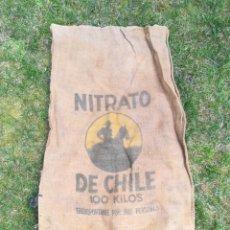 Antiguidades: SACO ARPILLERA YUTE NITRATO DE CHILE. Lote 261553645