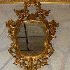 Antigüedades: CORNUCOPIA DE MADERA ANTIGUA CON PAN DE ORO FINALES S XIX PRINCIPIOS DEL XX. Lote 126446375