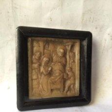 Antigüedades: ANTIGUO RELICARIO DE PP S.XX , RELIQUIA EN CERA - SANTA FAMILIA. Lote 261581470