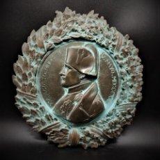 Antigüedades: PRECIOSO TONDO, METOPA NAPOLEON, S.XIX. BRONCE. Lote 261585925