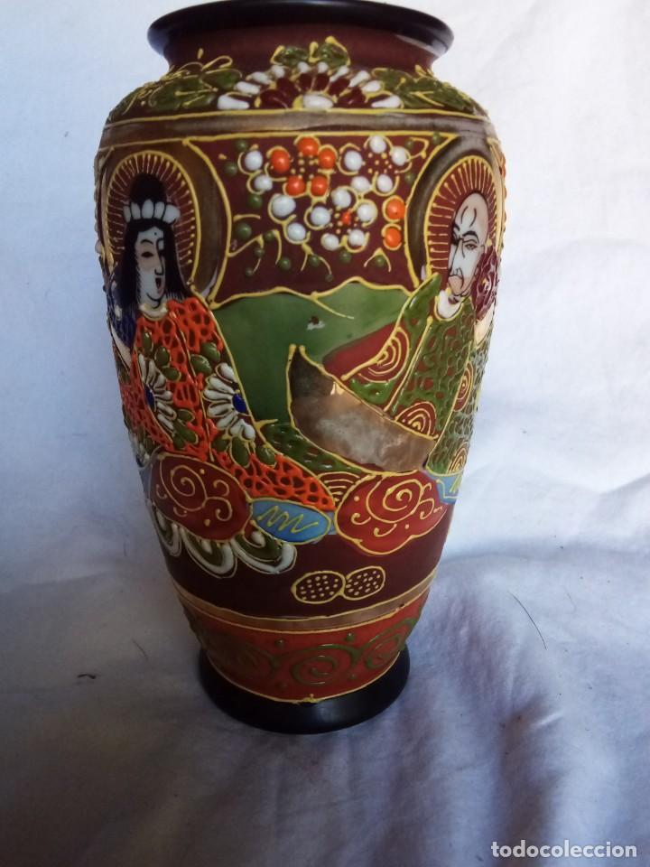 BONITO JARRÓN SATSUMA (Antigüedades - Porcelana y Cerámica - Japón)