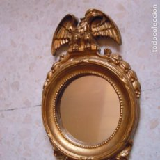 Antigüedades: ESPEJO DORADO MADERA AGUILA. Lote 261625445