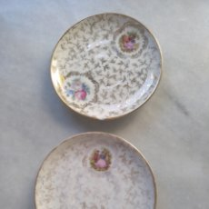 Antigüedades: PAREJA PLATOS DE PORCELANA LIMOGES. Lote 261663175