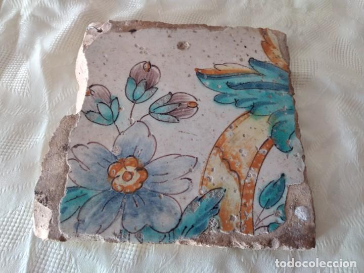 Antigüedades: AZULEJO ANTIGUO flores - SEVILLA / TRIANA . SIGLO XVIII. - Foto 5 - 261664085