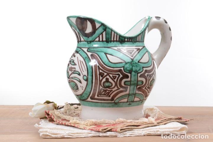 Antigüedades: Jarra decorativa de cerámica española firmada por Domingo Punter, jarra Domingo Punter - Foto 2 - 261687040