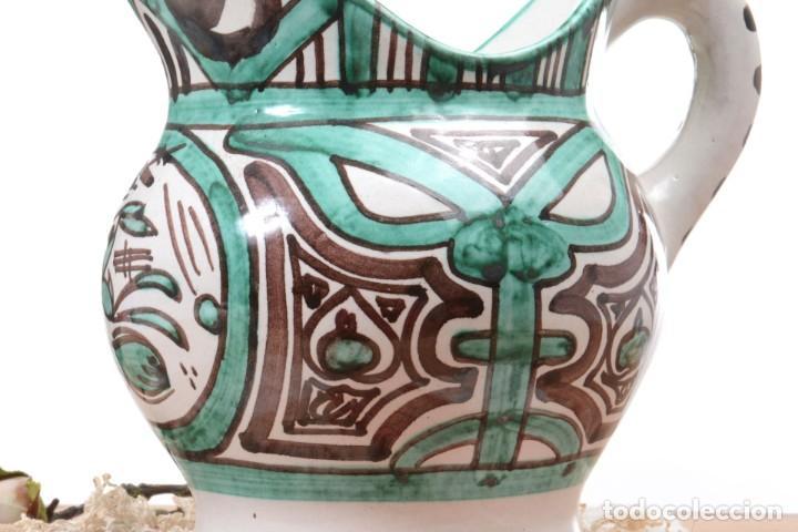 Antigüedades: Jarra decorativa de cerámica española firmada por Domingo Punter, jarra Domingo Punter - Foto 3 - 261687040