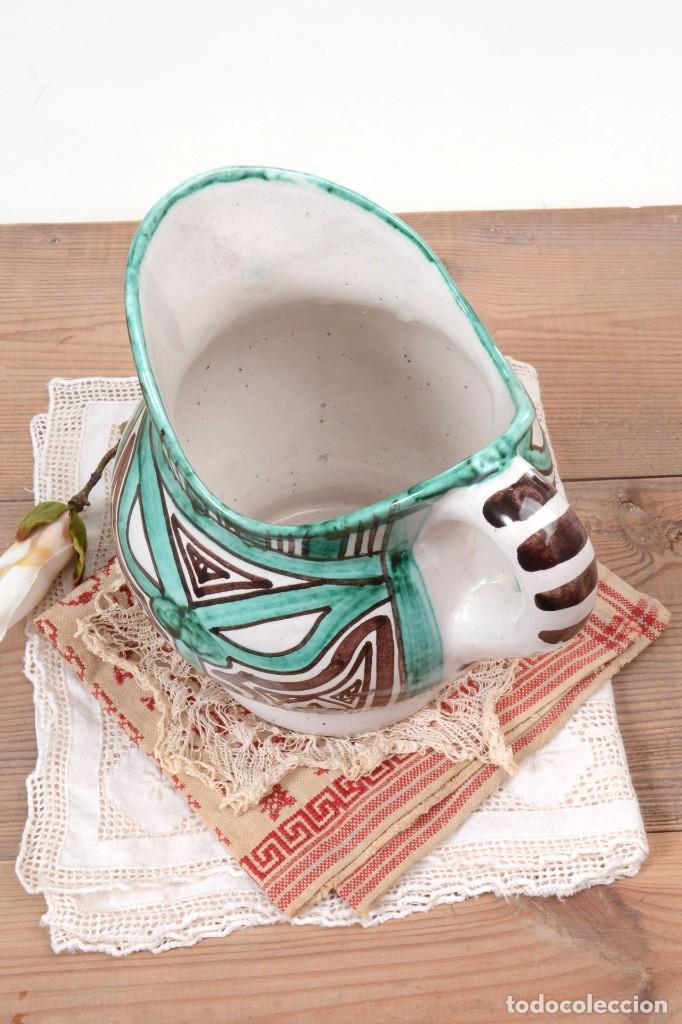 Antigüedades: Jarra decorativa de cerámica española firmada por Domingo Punter, jarra Domingo Punter - Foto 4 - 261687040