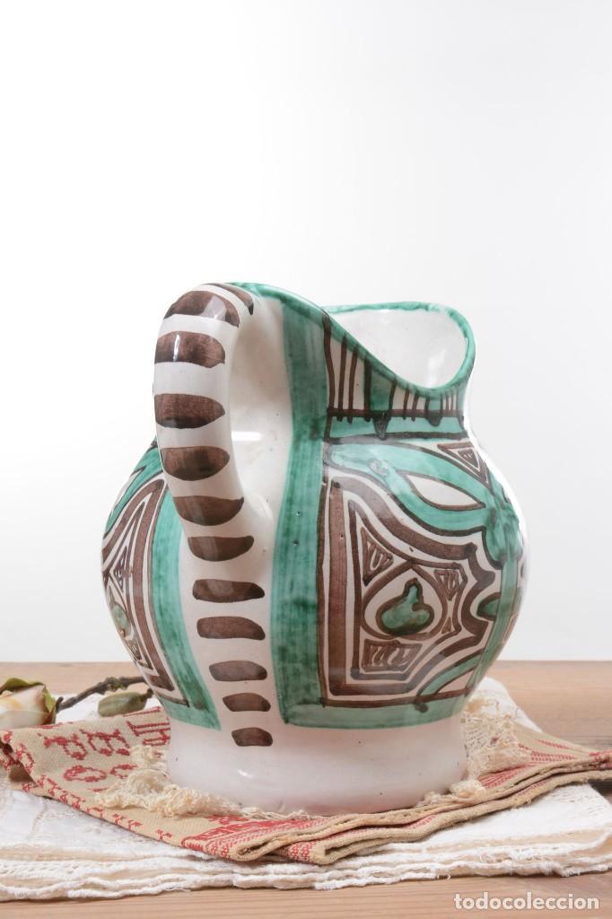 Antigüedades: Jarra decorativa de cerámica española firmada por Domingo Punter, jarra Domingo Punter - Foto 5 - 261687040