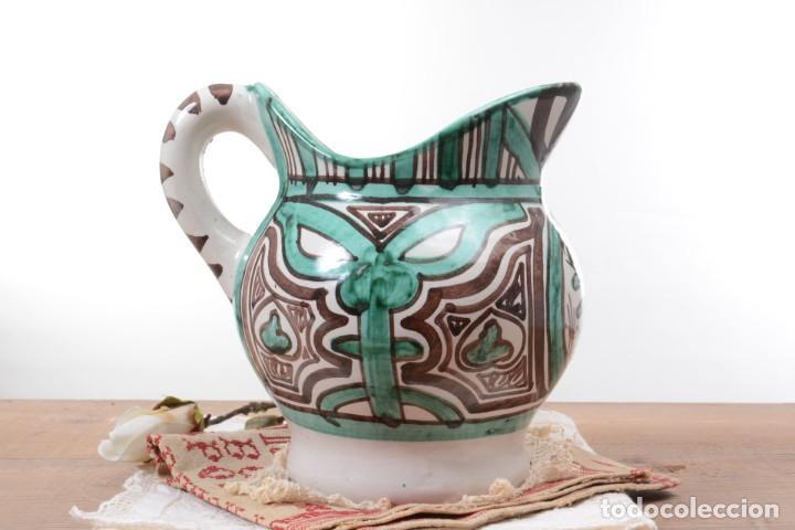 Antigüedades: Jarra decorativa de cerámica española firmada por Domingo Punter, jarra Domingo Punter - Foto 6 - 261687040