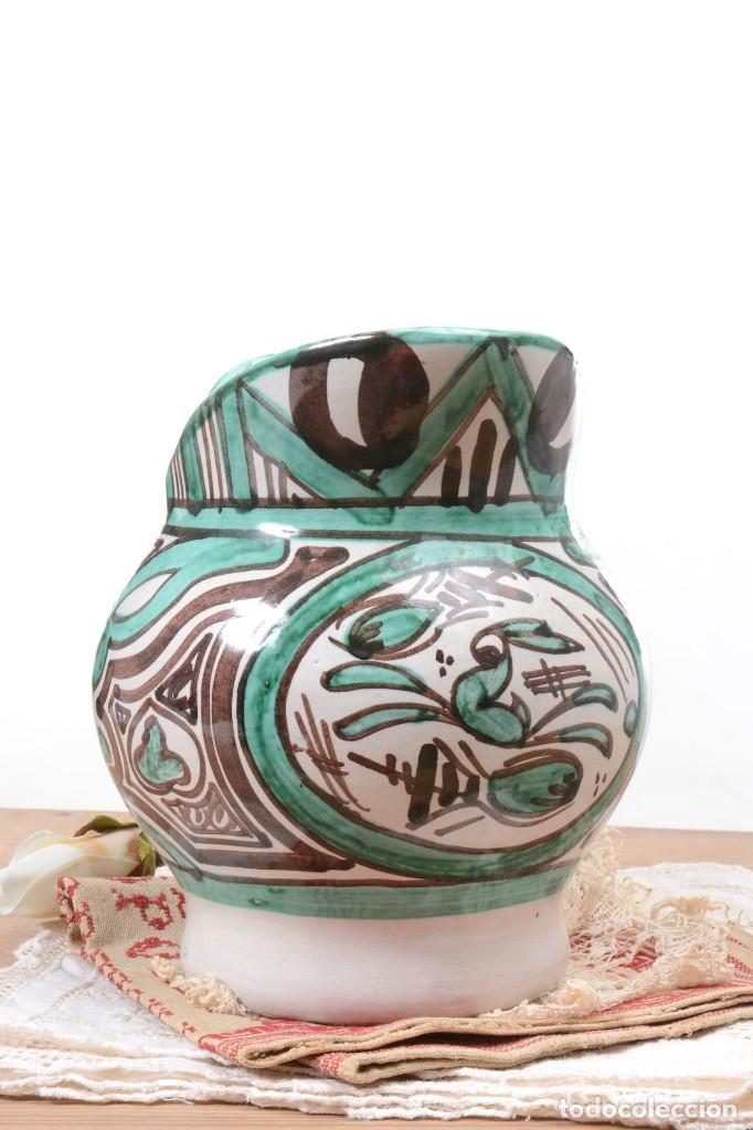 Antigüedades: Jarra decorativa de cerámica española firmada por Domingo Punter, jarra Domingo Punter - Foto 7 - 261687040