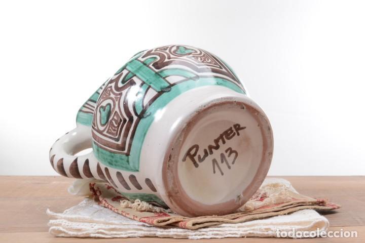 Antigüedades: Jarra decorativa de cerámica española firmada por Domingo Punter, jarra Domingo Punter - Foto 8 - 261687040