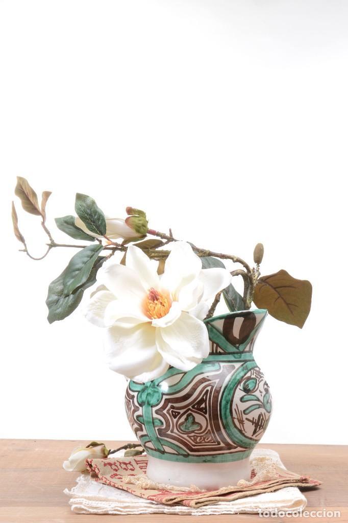 Antigüedades: Jarra decorativa de cerámica española firmada por Domingo Punter, jarra Domingo Punter - Foto 9 - 261687040