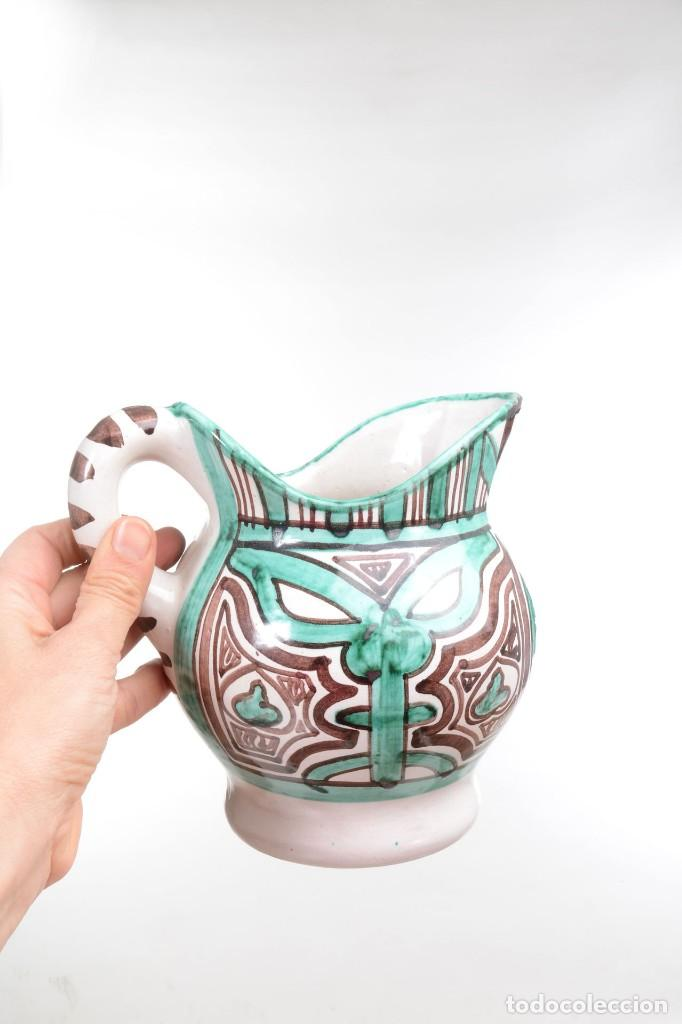 Antigüedades: Jarra decorativa de cerámica española firmada por Domingo Punter, jarra Domingo Punter - Foto 10 - 261687040