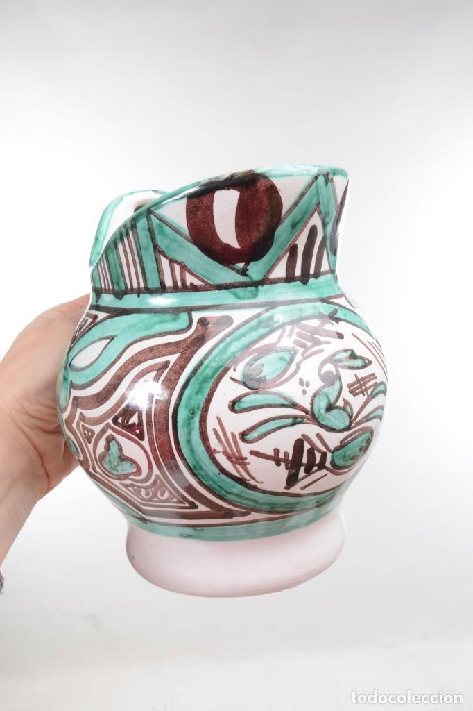 Antigüedades: Jarra decorativa de cerámica española firmada por Domingo Punter, jarra Domingo Punter - Foto 11 - 261687040