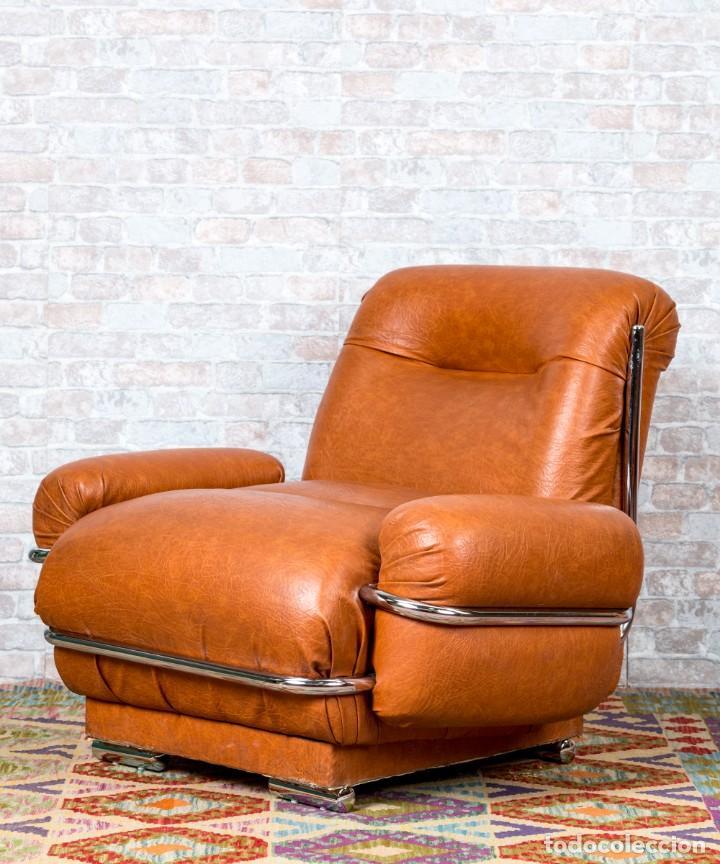 Antigüedades: Sillón Vintage De Diseño - Foto 2 - 261788100