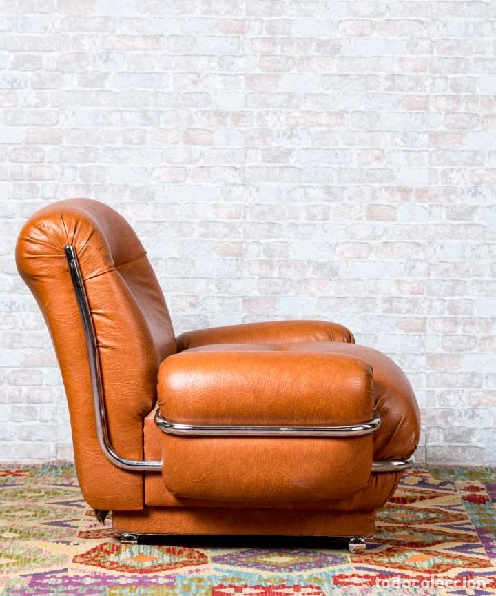 Antigüedades: Sillón Vintage De Diseño - Foto 5 - 261788100