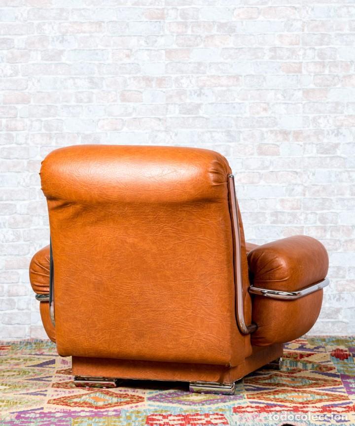 Antigüedades: Sillón Vintage De Diseño - Foto 6 - 261788100
